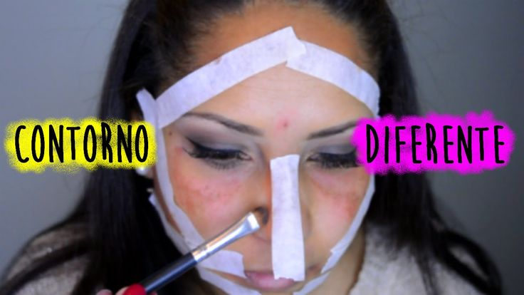 Contorno usando fita adesiva - makeup #pelenegra