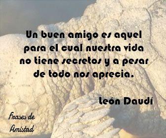 Frases de amistad de toda la vida de León Daudí