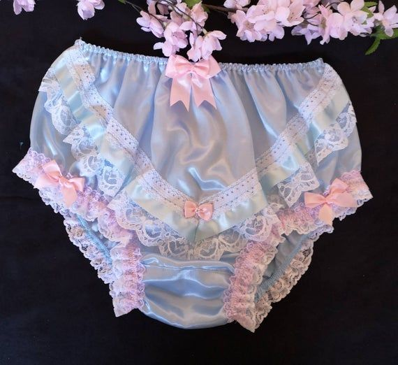 Frilly Lacy Satin Panties Scenes
