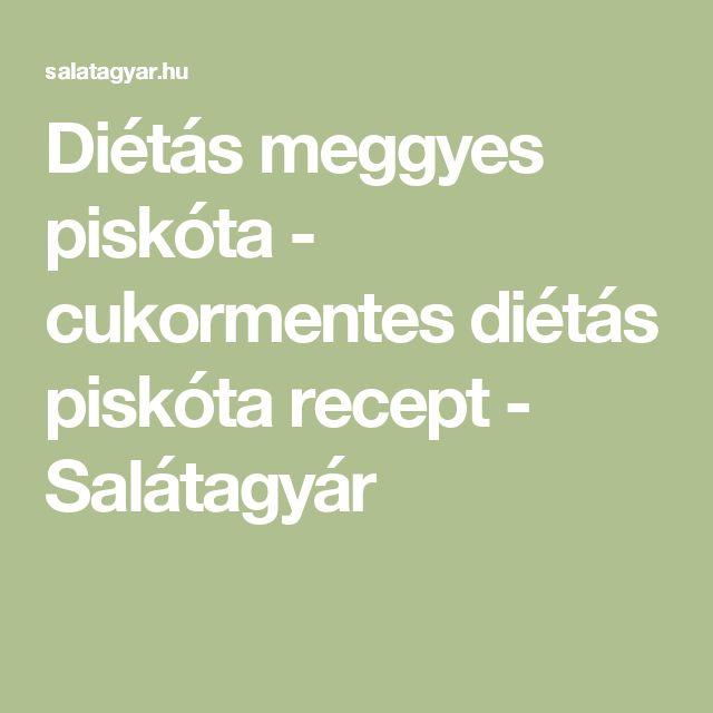 Diétás meggyes piskóta - cukormentes diétás piskóta recept - Salátagyár