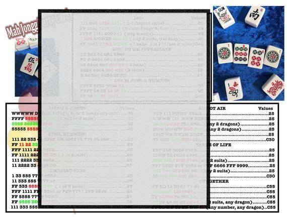 graphic relating to Mahjong Cards Printable identify Printable Bash Mahjong Card (8-1/2\