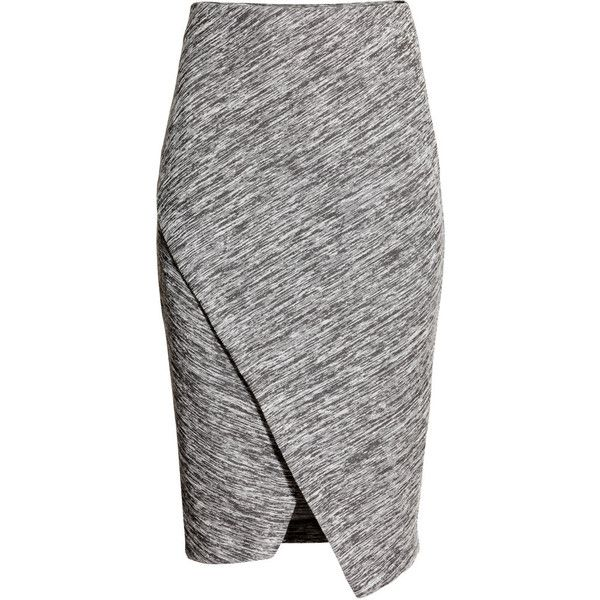 H&M Wraparound skirt found on Polyvore featuring skirts, bottoms ...