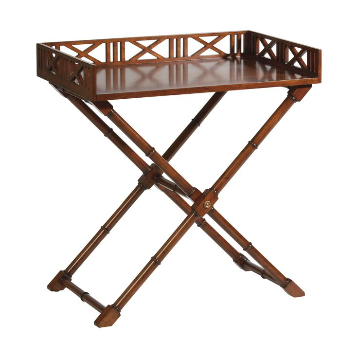 Caramel West Indies Tray Table - Ethan Allen US - Love this