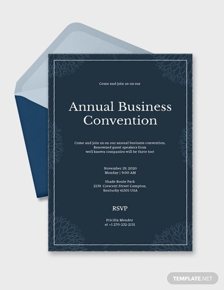 Business Event Invitation Invitation Templates  Designs 2019