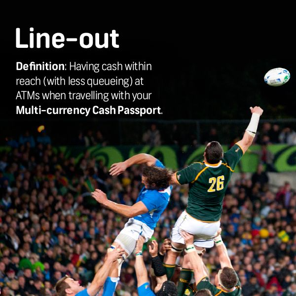 Get your Multi-currency Cash Passport with FNB and put yourself in line to WIN a trip for 2 to the RWC 2015, courtesy of MasterCard. Visit https://www.fnb.co.za/promotions/ForexRugbyWorldCup/index.html for more info.  Competition ends 15 August 2015.
