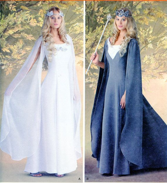 LOTR Galadriel or Wizard of Oz Glinda Medieval Dress Gown Sewing Pattern, Simplicity 1551 Adult Sizes 8-24, Lord of the Rings, Hobbit Movies