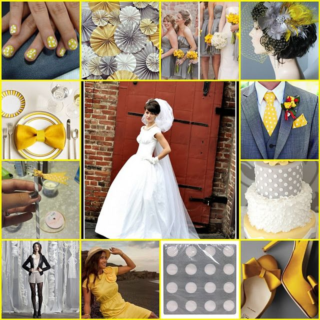 Yellow, White, and Grey color scheme with a spring green accent.  These are the colors I want. :)