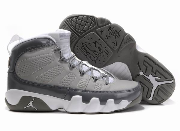 Air Jordan 9 IX Retro Cool Grey White Shoes are in a sale on our website.  Buy the cool grey jordan 9 retro shoes now.