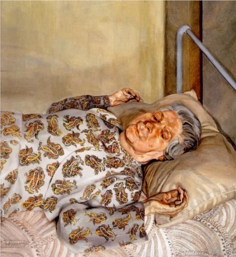 The Painter's Mother Resting I (1976) // Lucian Freud