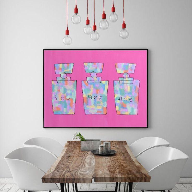 Grande Peinture De Parfum Art Pop Art Toile Moderne Original Art De Parfum Peinture Motivation Auto Amour Inspirational Citation  – art solimine