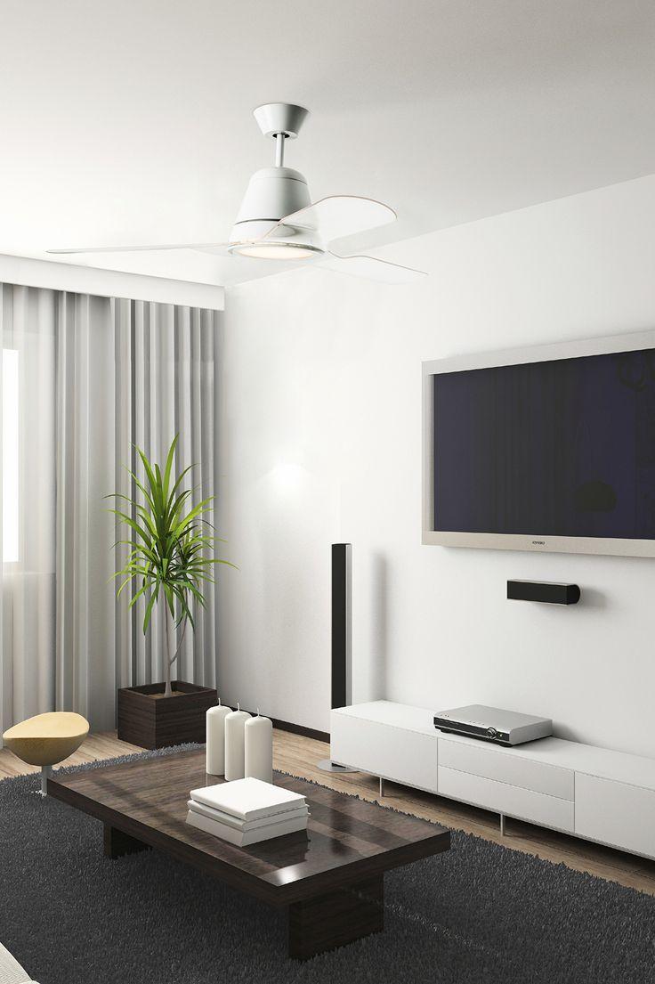 Ventilateur de plafond design TIGA de LEDS C4, mister lumière