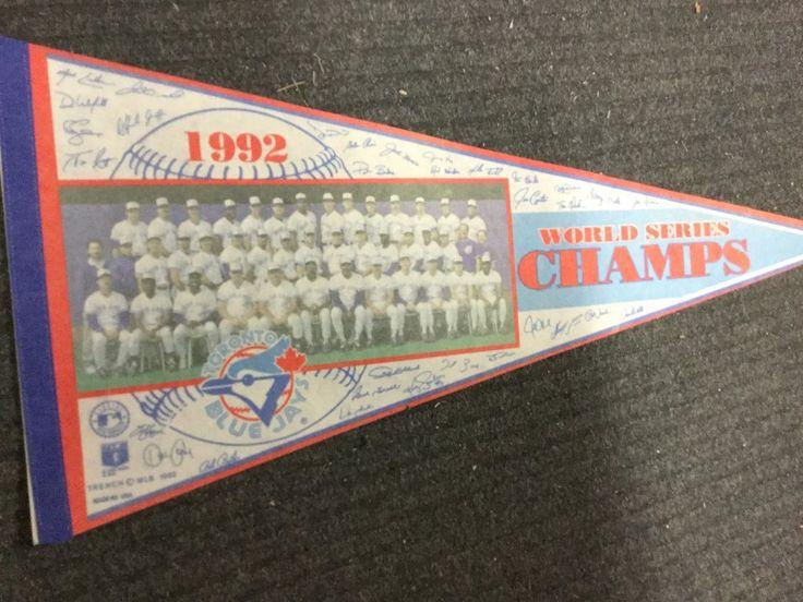Blue Jays World champ team photo baseball pennant 1992