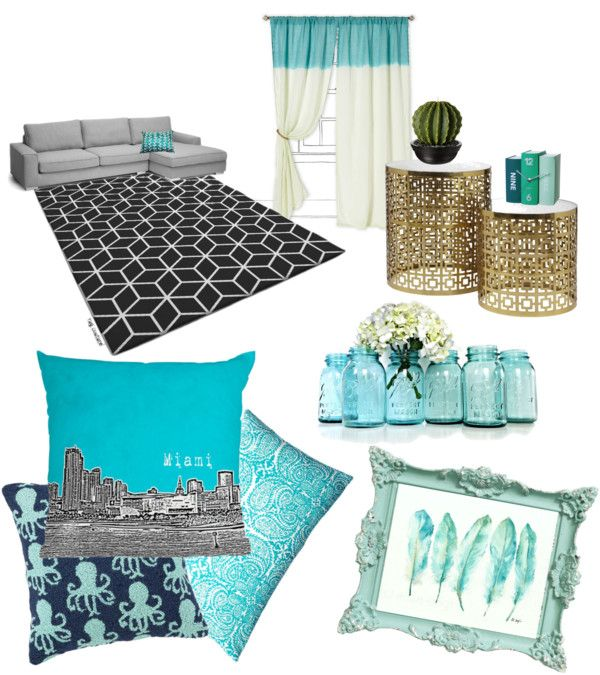 Teal Home Decor With Polyvore 39 S New Category Home Around The Home Pinterest Teal Living