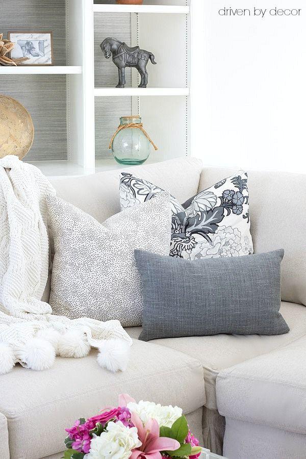 Pillows 101 How To Choose Arrange Throw Pillows Driven By Decor Throw Pillows Living Room Living Room Pillows Home Living Room