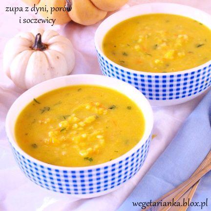 zupa z dyni, porów i soczewicy