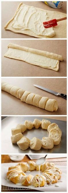 Lemon-Cream Cheese Crescent Ring - quick breakfast treat or for potluck