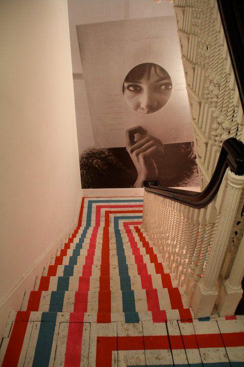 striped steps
