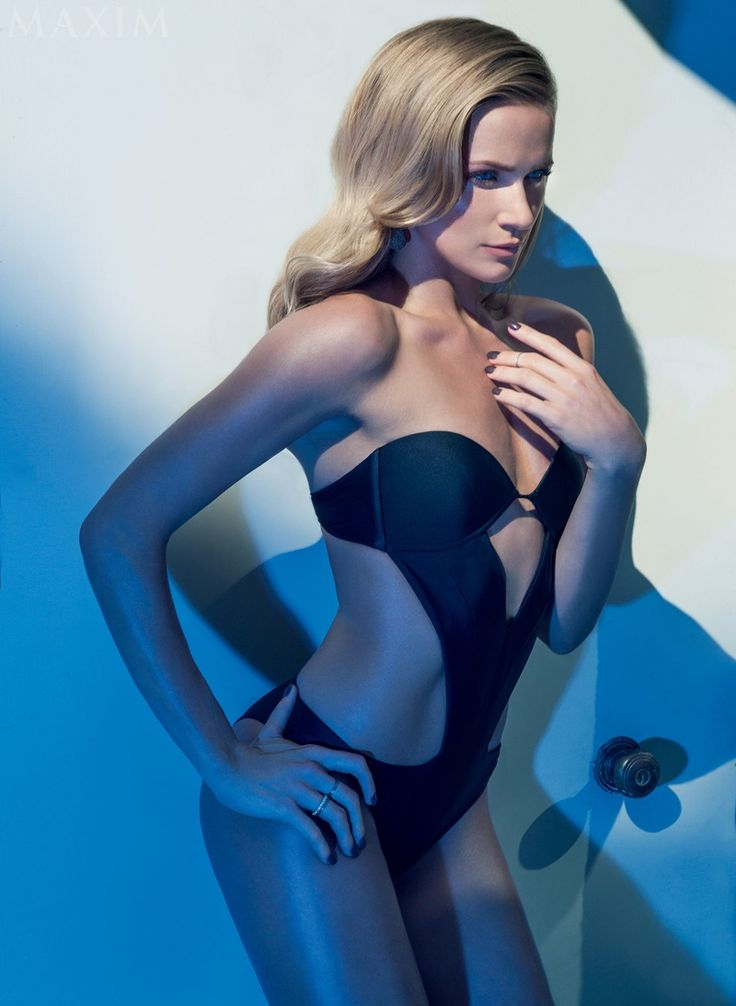 """Star of the CW's upcoming sci-fi show called""""The Messengers"""", Shantel VanSanten, poses for the latest issue of Maxim Magazine wearing swimsuit looks. Photographed by Rene & Radka, and the blonde flaunts her stuff in bikini styles. In the interview, Shantel shares details about the new show, saying, """"I play an astronomer who watches a mysterious object plummeting from the sky. When it hits, my heart stops briefly—I die!—and ..."""