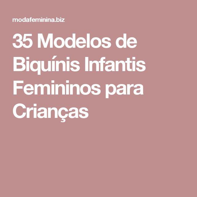 35 Modelos de Biquínis Infantis Femininos para Crianças