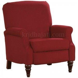 Kursi Sofa Bromwich dengan sofa warna merah yang gagah didukukng dengan desain minimalis pada kursi sofa ini