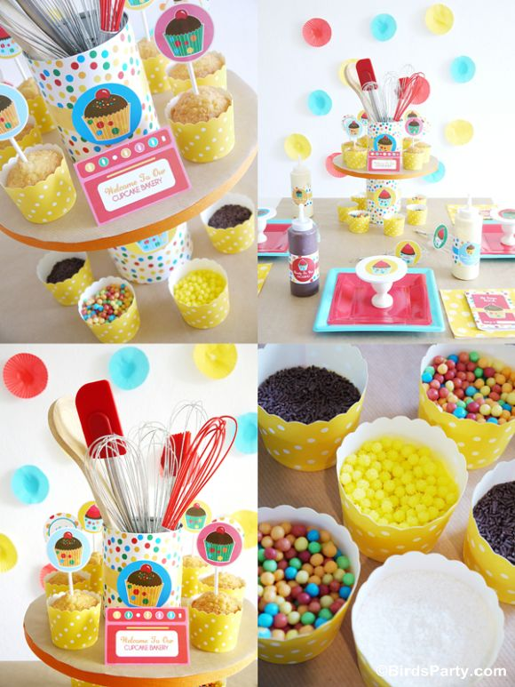 Party Printables   Party Ideas   Party Planning   Party Crafts   Party Recipes   BLOG Bird's Party: How to Style a Kid-Friendly Baking Party