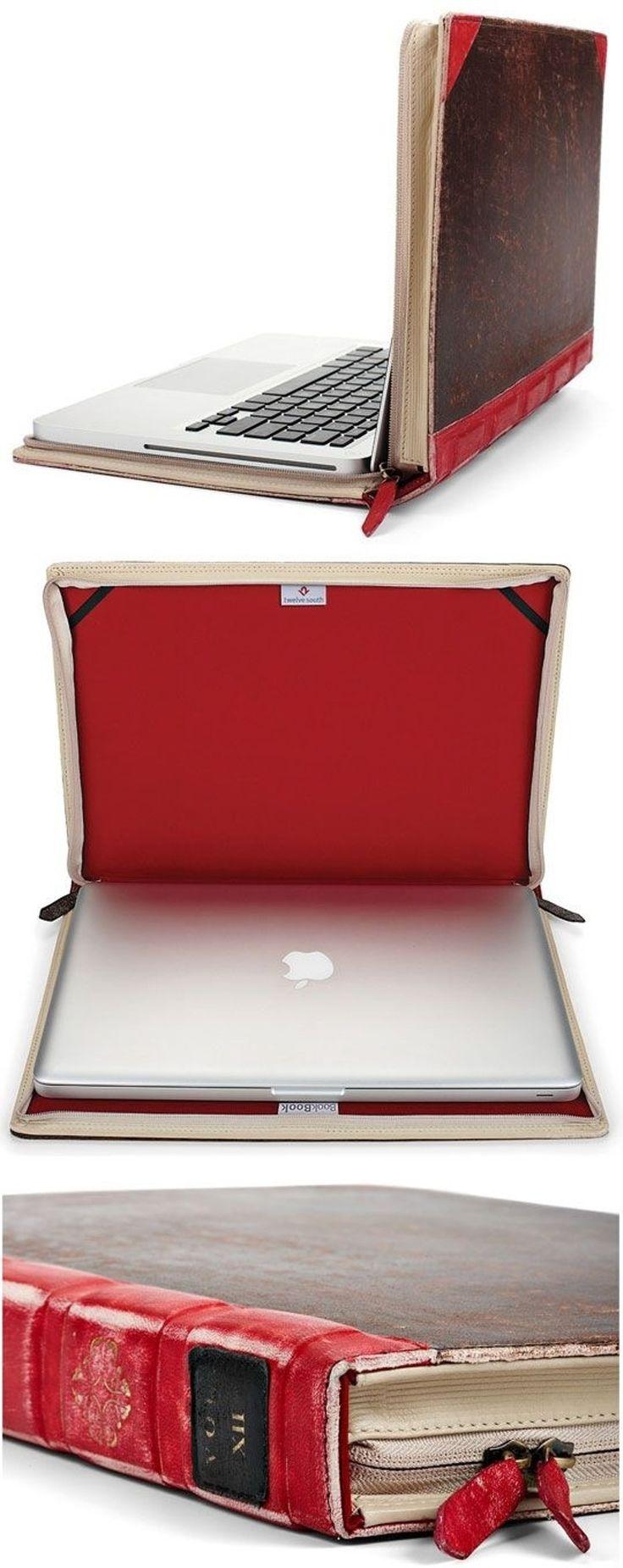 digitales Gerät im analogen Gewand #DIY #Buch #upcycling #Bücher #basteln #Buchliebe #alt #Laptop #case #Hülle #Tasche #retro
