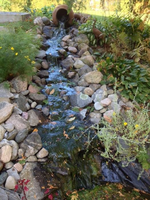 21 best images about 125 wilbert cox on pinterest garden for Ornamental pond waterfall