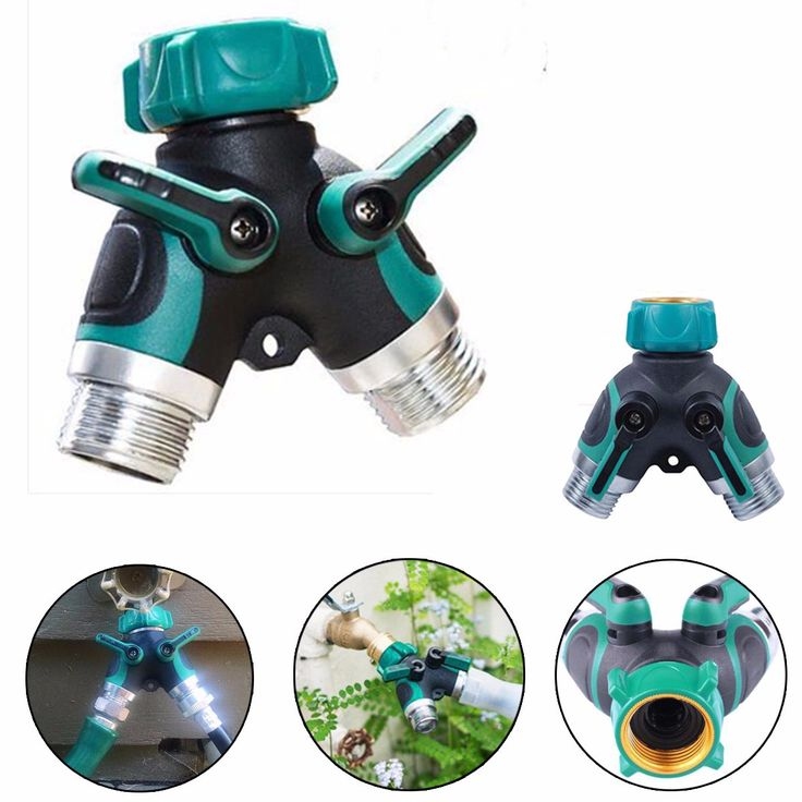 ABS Stainless Steel Hose Pipe Tool 2 Way Connector 2 Way Tap Garden Hoses Pipes Splitters Three-Way Valve Pipe Distributor