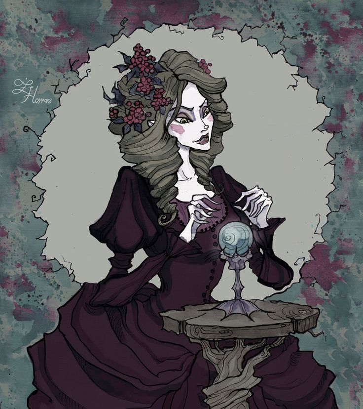 Witch and Magic Crystal Ball by IrenHorrors.deviantart.com on @deviantART