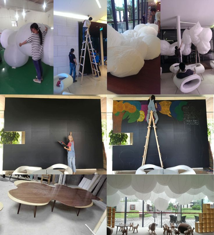 The goal is to build a children's area with the main function as a reading club. Our concept is to create a storybook forest with pure and innocent atmospher...