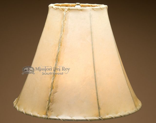 """Mission Del Rey Southwest - Rawhide Lamp Shades for Southwestern Lamps (16"""" bell), $159.95 (http://www.missiondelrey.com/rawhide-lamp-shades-for-southwestern-lamps-16-bell/)"""