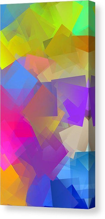 Abstract Canvas Print featuring the digital art Cubism Abstract 166 by Chris Butler #art #abstract #cubism #artdeco #design #interior #home #Decor #wallart #modern #contemporary #homedecor #abstractart #interiordesign #colorful #canvas #print #digitalart
