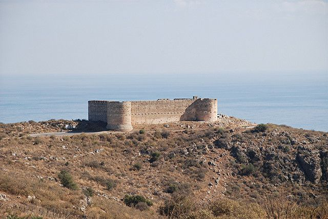 Aptera Castle, Crete. The archaeological site of Aptera, which was the most powerful city of western Crete during Minoan times, is located 15 kms from the city of Chania, Crete, just south of Souda Bay, on a hill above the national road which connects Chania and the city of Rethymnon. - See more at: http://www.chania-crete-greece.com/aptera-chania-crete. by nicnac1000, via Flickr