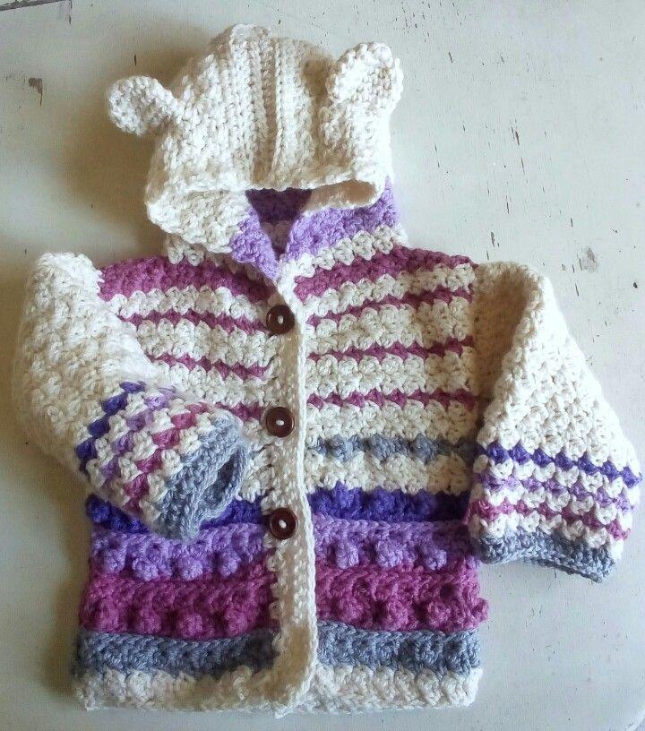 Crochet sweater/ abrigo niña tejido a crochet
