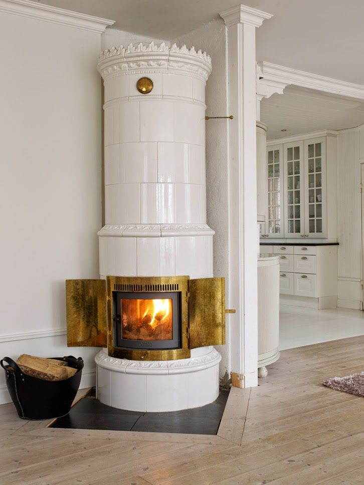 classic scandinavian stove / masonry heater | interior design + decorating ideas