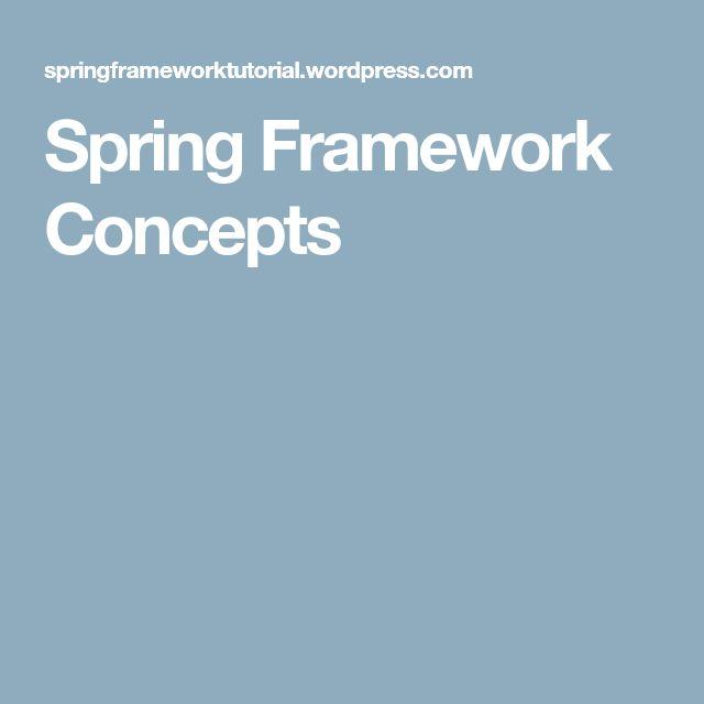 Spring Framework Concepts