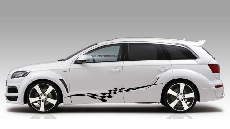Audi Car Racing Stripes Sticker Art Set Vinyl Graphics Decal  Auto Rally JDM 14