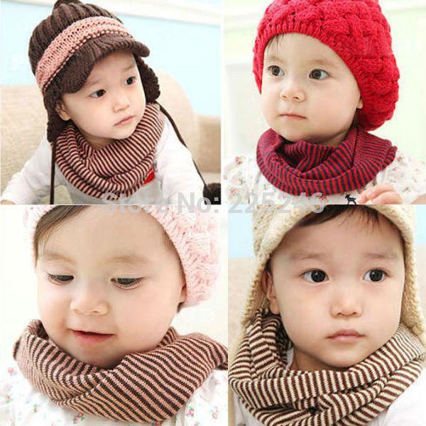 wholesalekid peuter jongen meisje winter warm snood sjaal halsdoek gestreepte scarvesfreeshipping(China (Mainland))