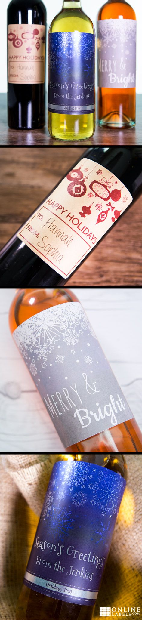 Create your own wine bottle labels using our editable pre-designed templates this holiday season!