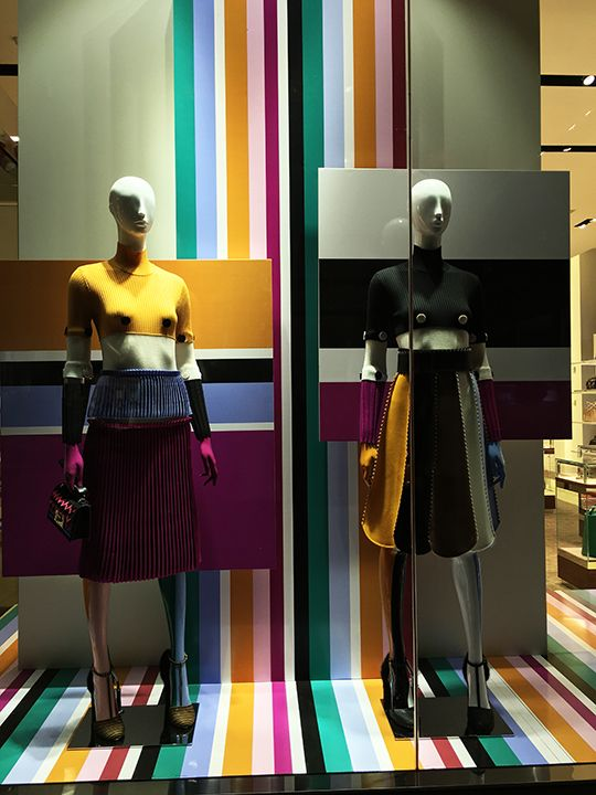 "SALVATORE FERRAGAMO, 5th Avenue, New York, ""A Medley of Lively Colors"", photo by Mizhattan, pinned by Ton van der Veer"