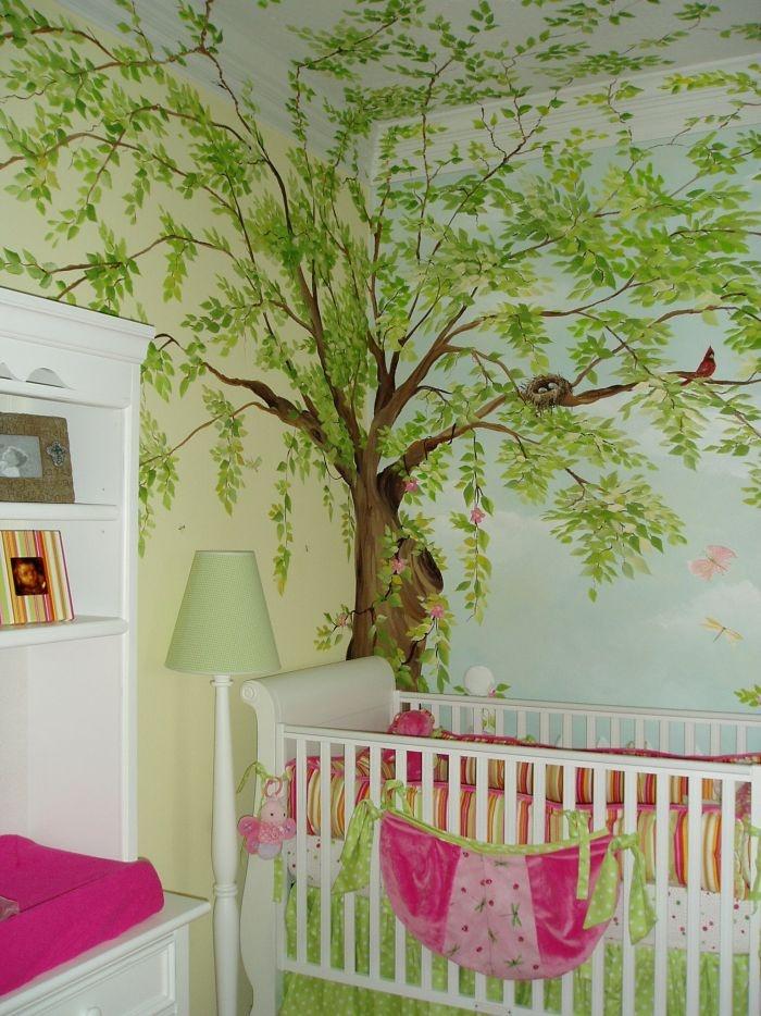 25 best ideas about tree wall murals on pinterest wall murals wall murals bedroom and forest - Painting nursery ceiling ideas tips ...