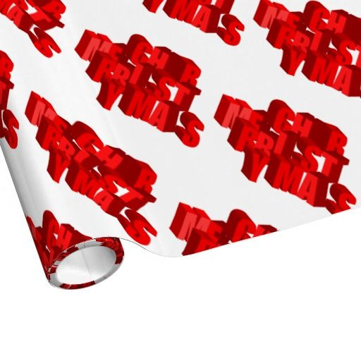 3D Christmas Wrapping Paper  for you at www.zazzle.com/superdumb*