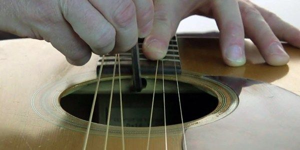 How To Set Action Height On Acoustic Guitar How To Adjust Guitar Truss Rod Guitar Acoustic Guitar Acoustic