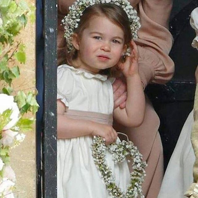 Princess Charlotte was a flower girl at her Aunt Pippa's wedding on May 20, 2017.
