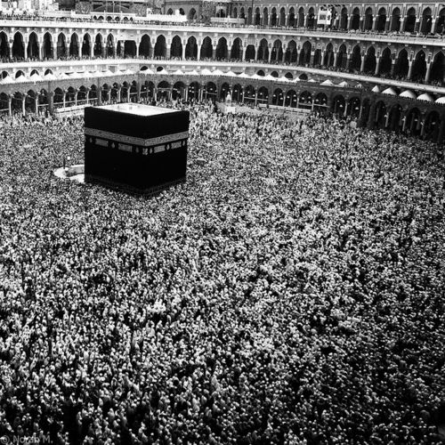 Holy Mosque in  Makkah  black and white #photography