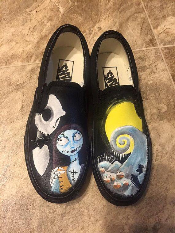 Custom Nightmare Before Christmas Painted Shoes