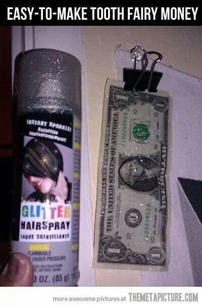 Easy tooth fairy money!