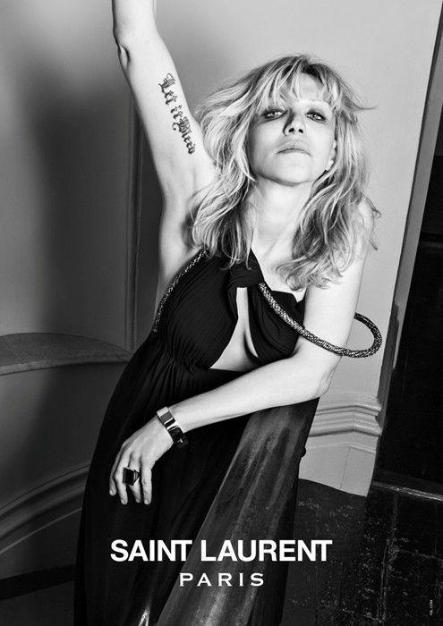 Courtney Love for Saint Laurent Paris