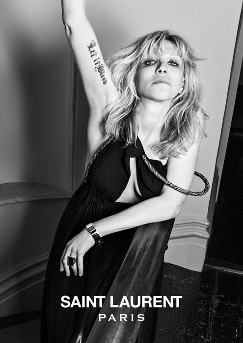 Courtney Love for Saint Laurent Paris