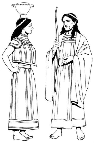 Костюмы эпохи древняя греция